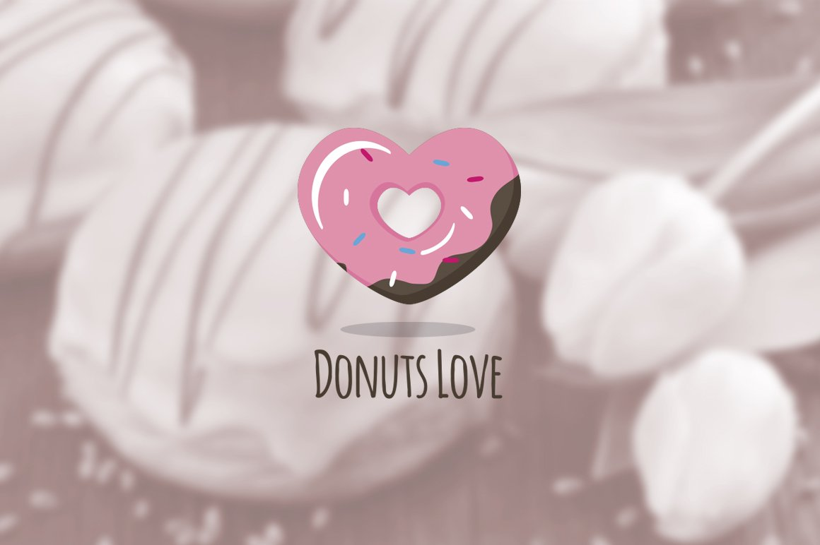 Greatest Donuts Love. Donuts Shop Logo ~ Logo Templates ~ Creative Market OA71