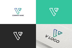 Letter V logo design | Free UPDATE