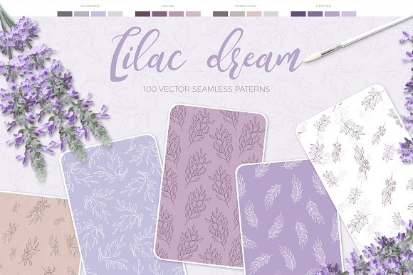 Lilac Dream + Instagram Templates in Patterns