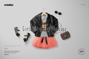 Girls Chic Set Mockup Set