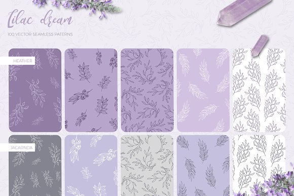 Lilac Dream + Instagram Templates in Patterns - product preview 1