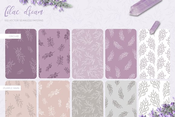 Lilac Dream + Instagram Templates in Patterns - product preview 2