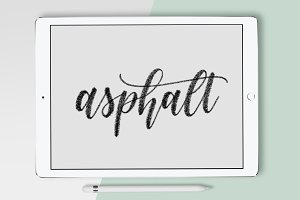 Asphalt Calligraphy Procreate Brush