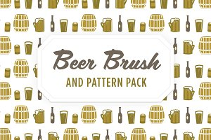 Beer Vector Brush, Pattern & Icons