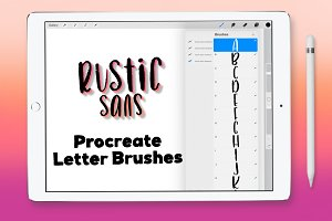 Rustic Sans Procreate Letter Brushes