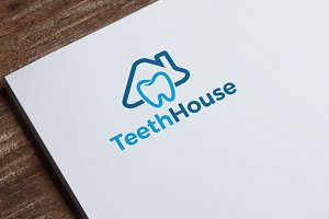 Teeth House Logo Template