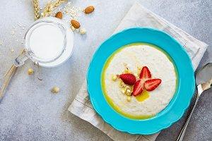 Porridge of oatmeal.