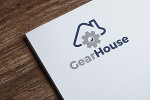 Gear House Logo Tempate