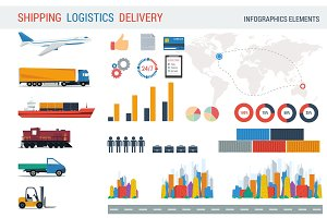 Logistic elements for infographic