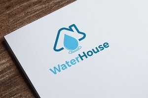 Water House Logo Tempate
