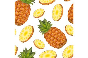 Pineapple with Round Slices Pattern