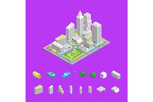 City Streets Isometric View