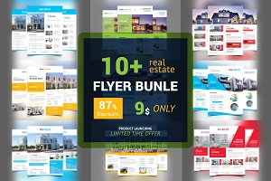 10+ Real Estate Flyers Bundle