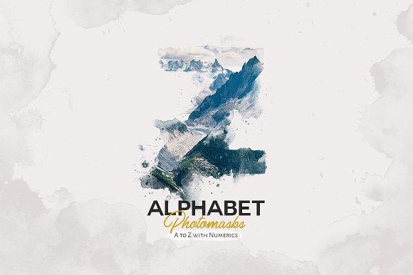 Alphabet Masks Stories Watercolor