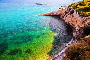 Clear water of the sea, Ibiza