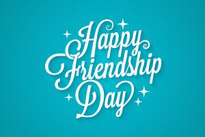 Friendship day vintage lettering