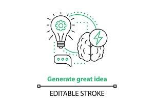 Generating idea concept icon