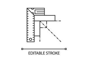 Set square linear icon