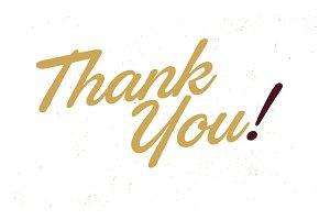 Thank You! Script Lettering