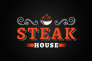 Steak house vintage logo