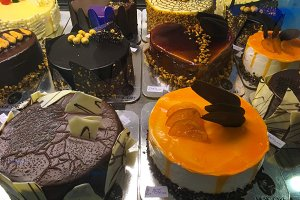 Delicious cakes from chocolate