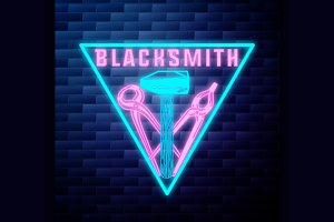 Blacksmith graphic vintage emblem