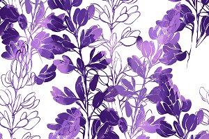 Provence flowers seamless | JPEG