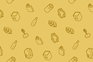 Recycling outline isometric pattern