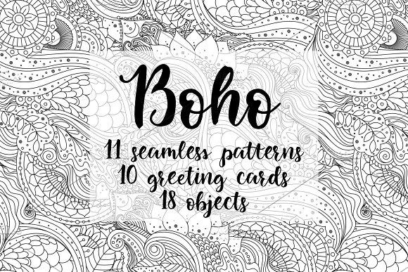 Boho Black&white Set