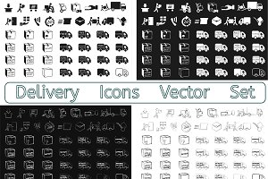 180 Delivery Icons Vector Set