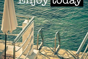 Enjoy today Ladder to the Sea