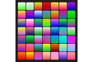Two-coloured bright gradients