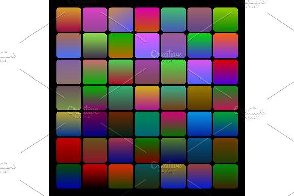 Two-coloured dark gradients