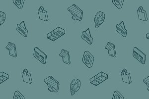 Retail outline isometric pattern