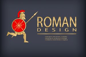 Antique warrior logo template
