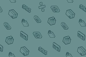 Sale outline isometric pattern