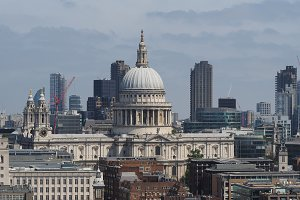 City of London and St Paul church