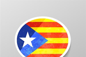Speech bubble shape Catalonia flag