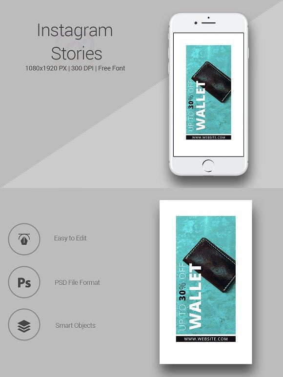Shop for Wallet - Instagram Stories