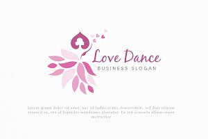 Love Dance Logo Template