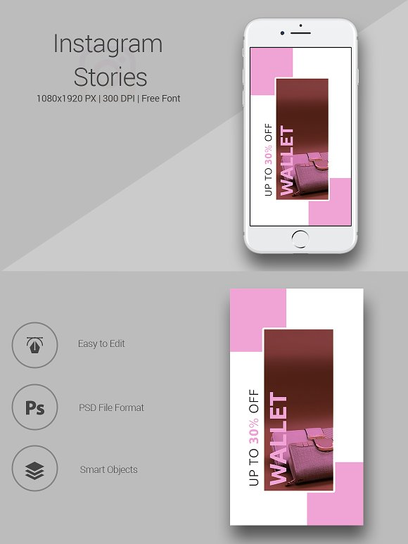Shop for Wallet Instagram Stories
