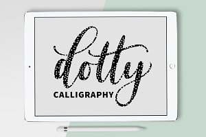 Procreate Brush - Dotty Calligraphy