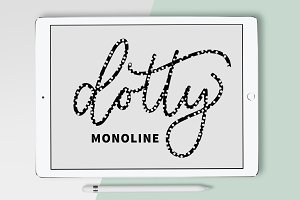 Procreate Brush - Dotty Monoline