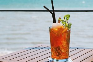Peach tea for summer