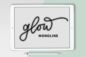 Procreate Brush - Glow Monoline