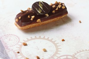 Eclairs with Vanilla Pastry Cream