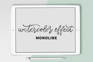 Watercolor Effect Monoline