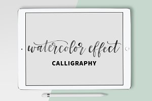 Watercolor Effect Calligraphy