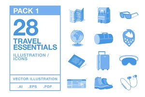 Travel Essentials Icons #1