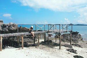 Enjoying summer on beautiful island